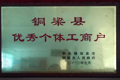 铜梁县优秀个体工商户